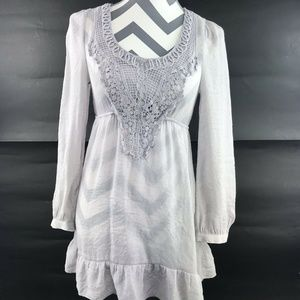 Francescas Lace Thin Tunic Blouse